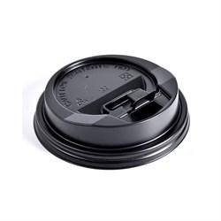 Крышка для одноразового стакана черная - фото 5515