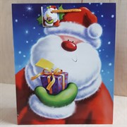 """Бумажный ламинированный пакет """"Добрый Санта"""" 26*32см."""